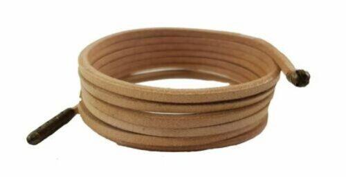 Beige Leder Schnürsenkel Luxus 3 MM Quadratisch