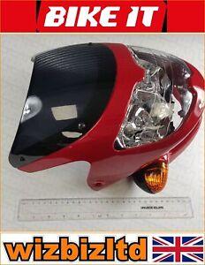 NEW BIKE IT MOTORCYCLE BIKE DASH HEADLIGHT UNIVERSAL SCREEN FAIRING RED
