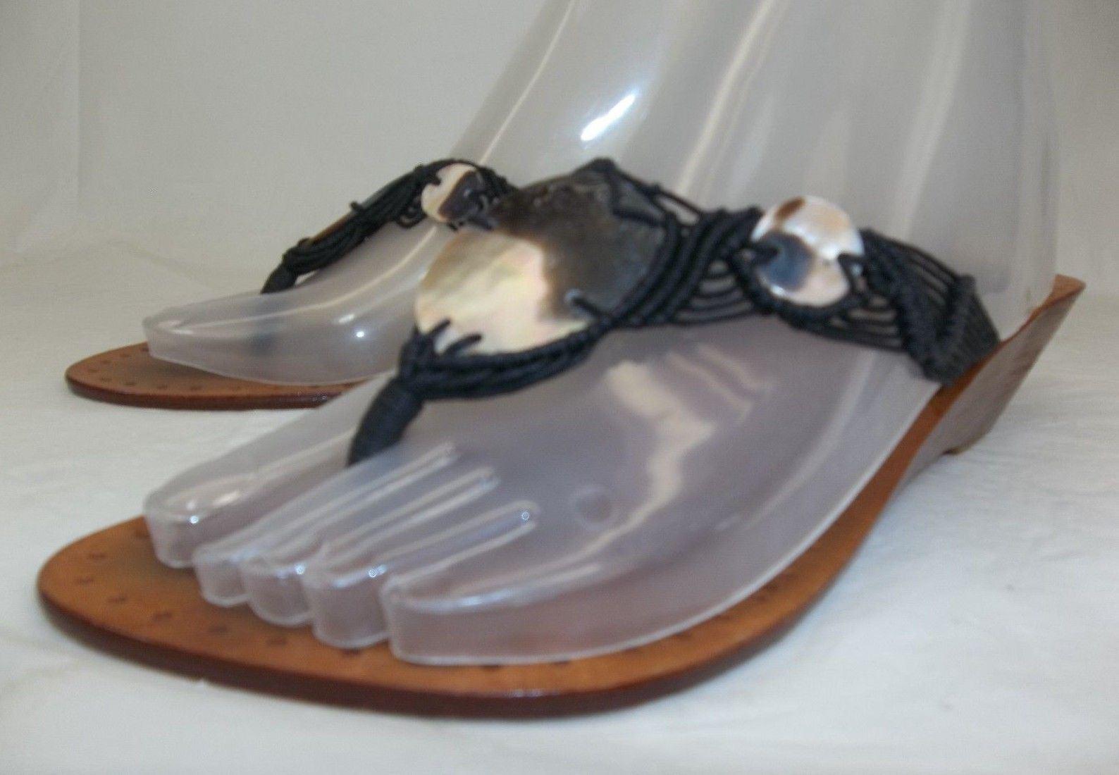 La Slip Pomme By Lablend Womens Shoes US6 Wood Leather Slip La On Sandals Resort Wear 1d7731