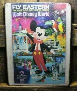 Fly Eastern Airlines Handmade Walt Disney World vintage Ride sign