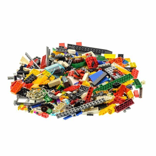 400 Teile Lego System Steine Kiloware gemischt 0,60 kg z.B. Räder Fenster Bögen