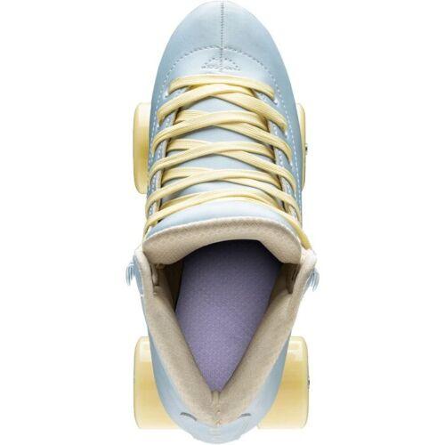 Size: 8 Impala WomensSky Blue // Yellow Quad Roller SkatesVegan