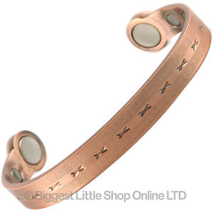 NEUF-Super-Fort-Moderne-cuivre-bracelet-magnetique-6-aimants-sante-Terre-Rare