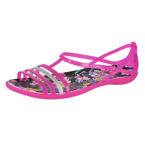 5c5badf0f CROCS Isabella Graphic Sandal 204858-6JS Candy Pink Tropical sz 8 9 ...