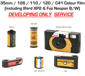 Colour Film Develop Only 35mm 126 110 120 Aps Single Use Cameras Ebay