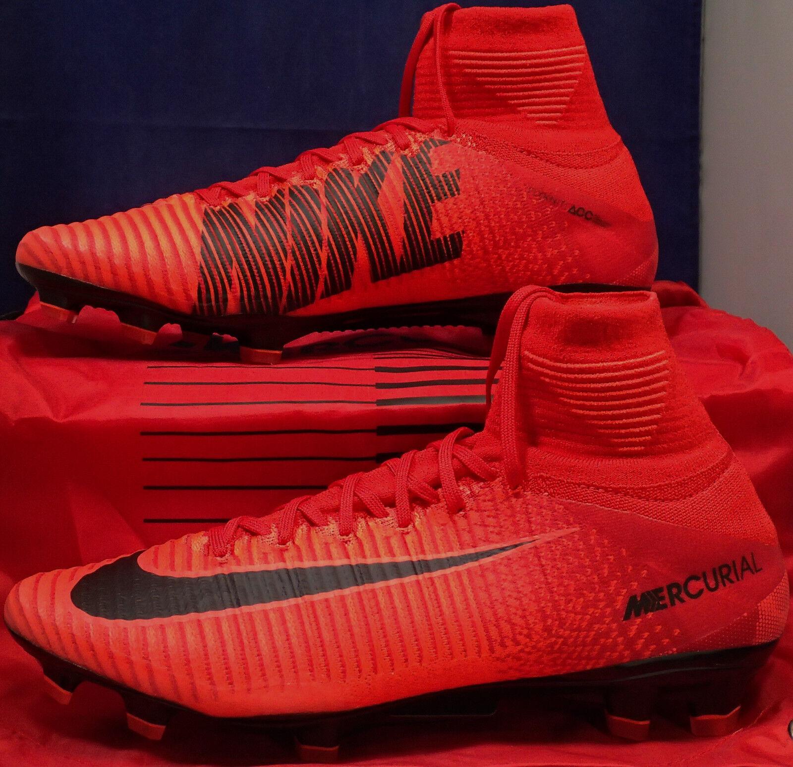Nike Mercurial Superfly V 5 DF FG University Red Black SZ US 9.5 ( 831940-616 )