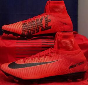 Nike Mercurial Superfly V 5 DF FG University Red Black SZ US 9.5 ... b0acc27ed