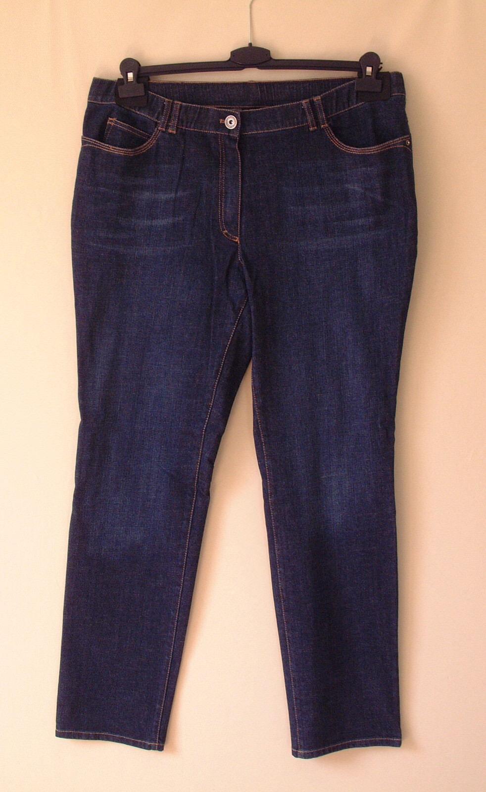 Samoon Jeans by Gerry Weber Hose mit trendigen Wash-Effekten Neu Damen Gr.