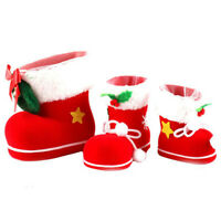New Gift Santa Pants Elf Spirit Boots Shoes Candy Gift Bag Sack Stocking Filler
