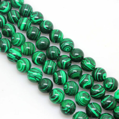 Natural Malachite Gemstone Round Spacer Loose Stone Beads DIY 4//6//8//10//12mm