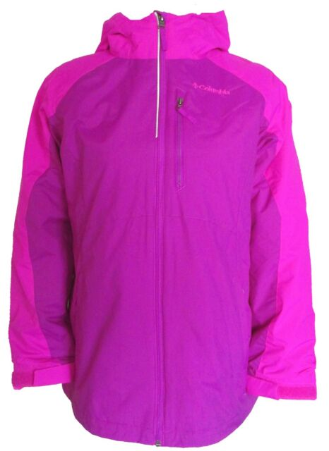 5a279a583 girls yth 14-16 COLUMBIA 3 in 1 hooded ski Coat fleece liner Jacket ...