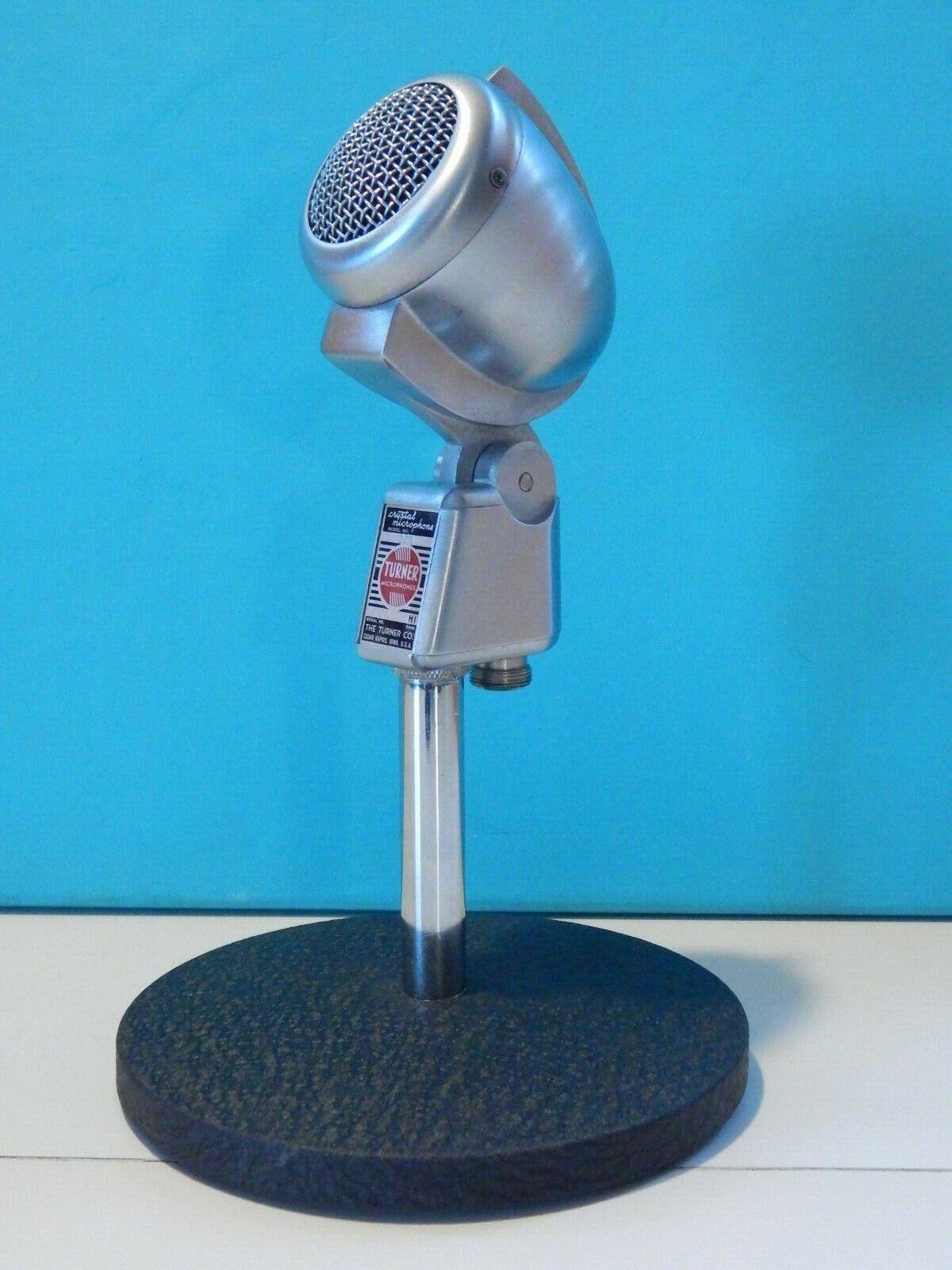 Vintage 1950S Sintonizador 22X Micrófono y soporte Shure Electro Voice Voice Voice Antiguo Deco  para proporcionarle una compra en línea agradable