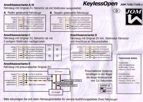 Mando a distancia inalámbrico ffb plegable clave retroadaptar jom 7105 p ej. 3a2,35i vw passat