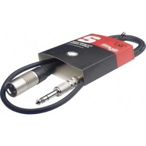 STAGG-SAC1PSXM-Audio-cable-jack-6-35-male-stereo-XLR-male-3-broches-1m-NEW
