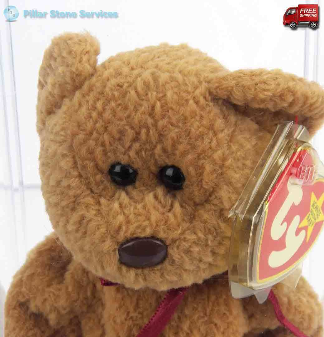 EXTREMELY RARE Ty Beanie Baby Curly Retired Bear with 14 DOCUMENTED ERRORS