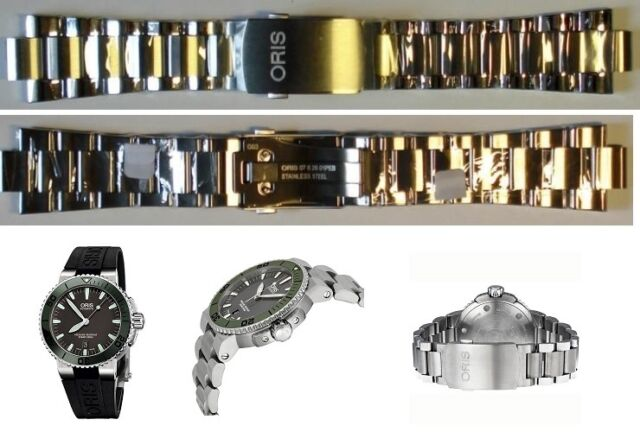 Oris S Steel Band Bracelet Strap Aquis Date 46mm Small Sec 82601 Case 733 7653