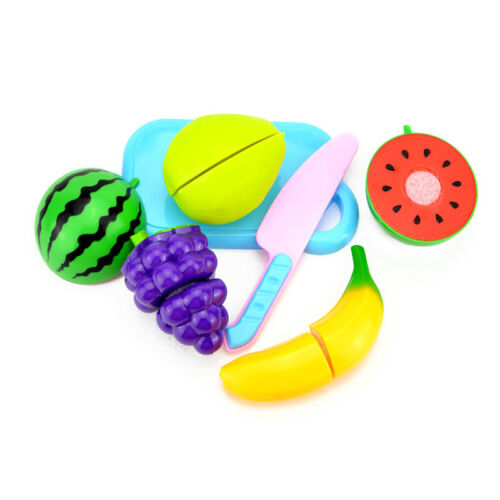Fruit Vegetable Food Cutting Set Reusable Role Play Pretend Kitchen Kids Toy HOT