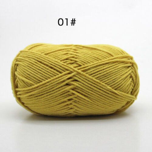 62 Colors X Skeins Hand Knitting Wool Baby Milk Cotton Crochet Chunky Yarn 50g
