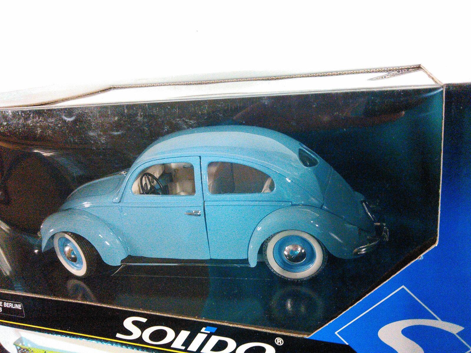 Solido Split Ventana Bebé blu VW Bettle Bug escala 1 18 nuevo en la caja