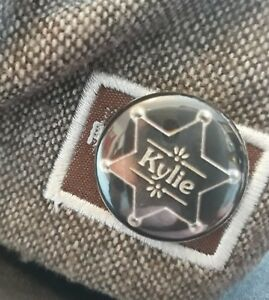 KYLIE GOLDEN BUTTON BADGE FROM THIS YEARS TOUR!!!! At NEWCASTLE METRO £3.99