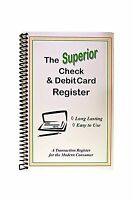 The Superior Check And Debit Card Register - White 5.5 X 8.5 Free Shipping