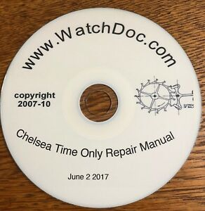 Official Chelsea Clock Time only repair manual 1953 web ...