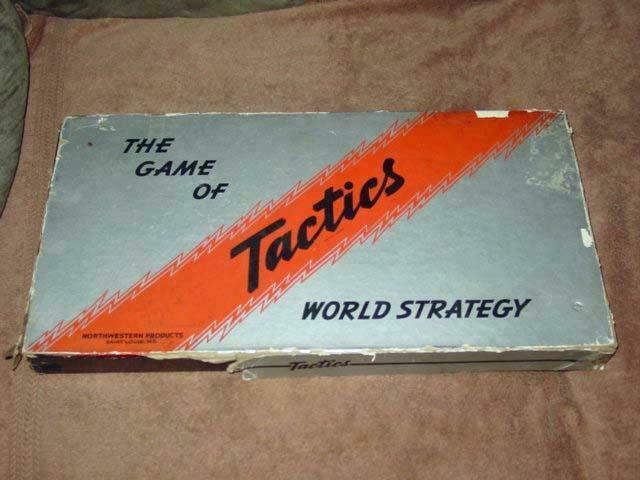 Vintage Northwestern Products 1940   The Game of Military - TACTICS & Strategy
