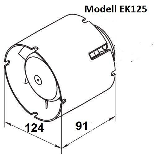 con ventilatore per esecuzione timer 100mm 125mm 150mm VENTOLA tubo ventola del tubo