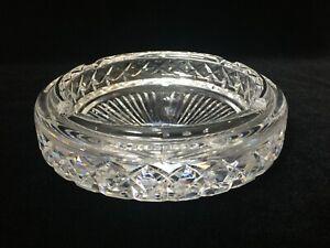 Waterford-Irish-Cut-Crystal-Glass-Large-amp-Heavy-Cigar-Ashtray-7-034-Dia-x-3-034-High