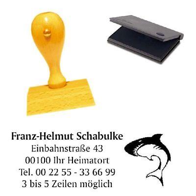 Adressenstempel « SEESTERN » mit Kissen Tauchen Diving Taucherstempel
