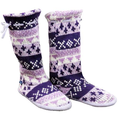 LADIES WINTER WARM COMFORT INDOOR BOOTIES BOOT SHOES WOMENS SLIPPERS UK