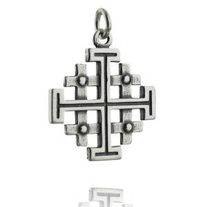 Fine Necklaces & Pendants STERLING SILVER PENDANT CHARM JERUSALEM CROSS SOLID 925 NEW PE000956 EMPRESS Fine Jewellery