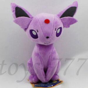 "Espeon Pokemon Pokedoll Plush Toy Doll Stuffed Animal Soft Sun from Eevee New 7/"""