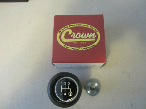 Jeep CJ 5 7 8 Shift Knob Kit T5 includes knob,lock nut shift pattern insert.