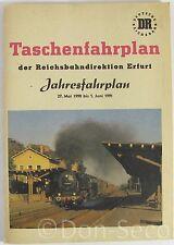 Taschenfahrplan der Reichsbahndirektion Erfurt Jahresfahrplan 1990/91 DR