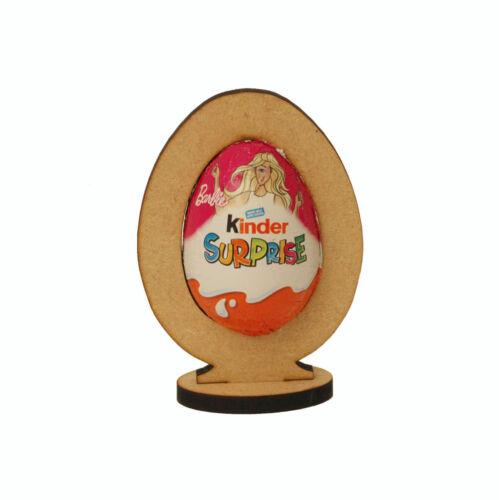 Free standing Easter egg shaped Kinder egg Holder Blank MDF Shape