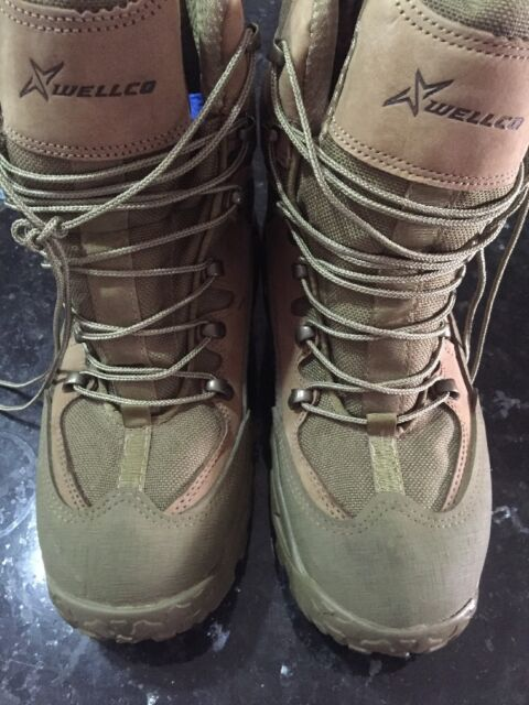 2632133b798 Wellco Combat Hiker Hot Weather Boots M760 Size 4 Coyote Brown Military  Hiking