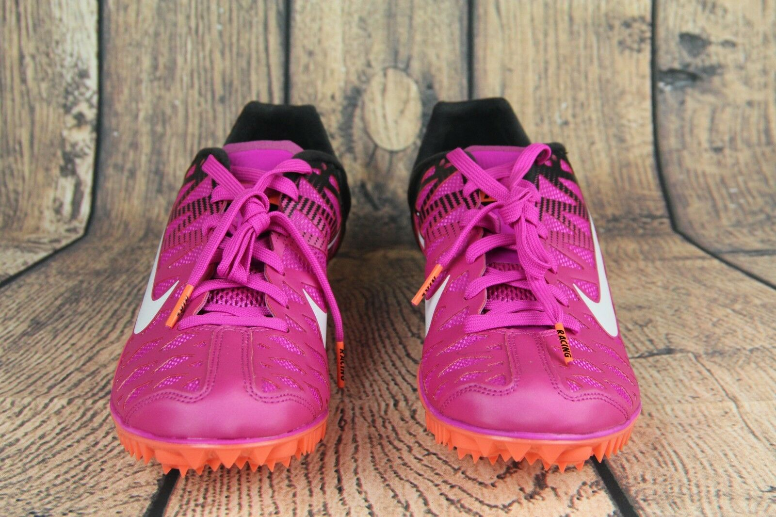 Nike Zoom Maxcat 4 Spikes Running Shoes Fire Pink Black 549150-601 Mens Size 7