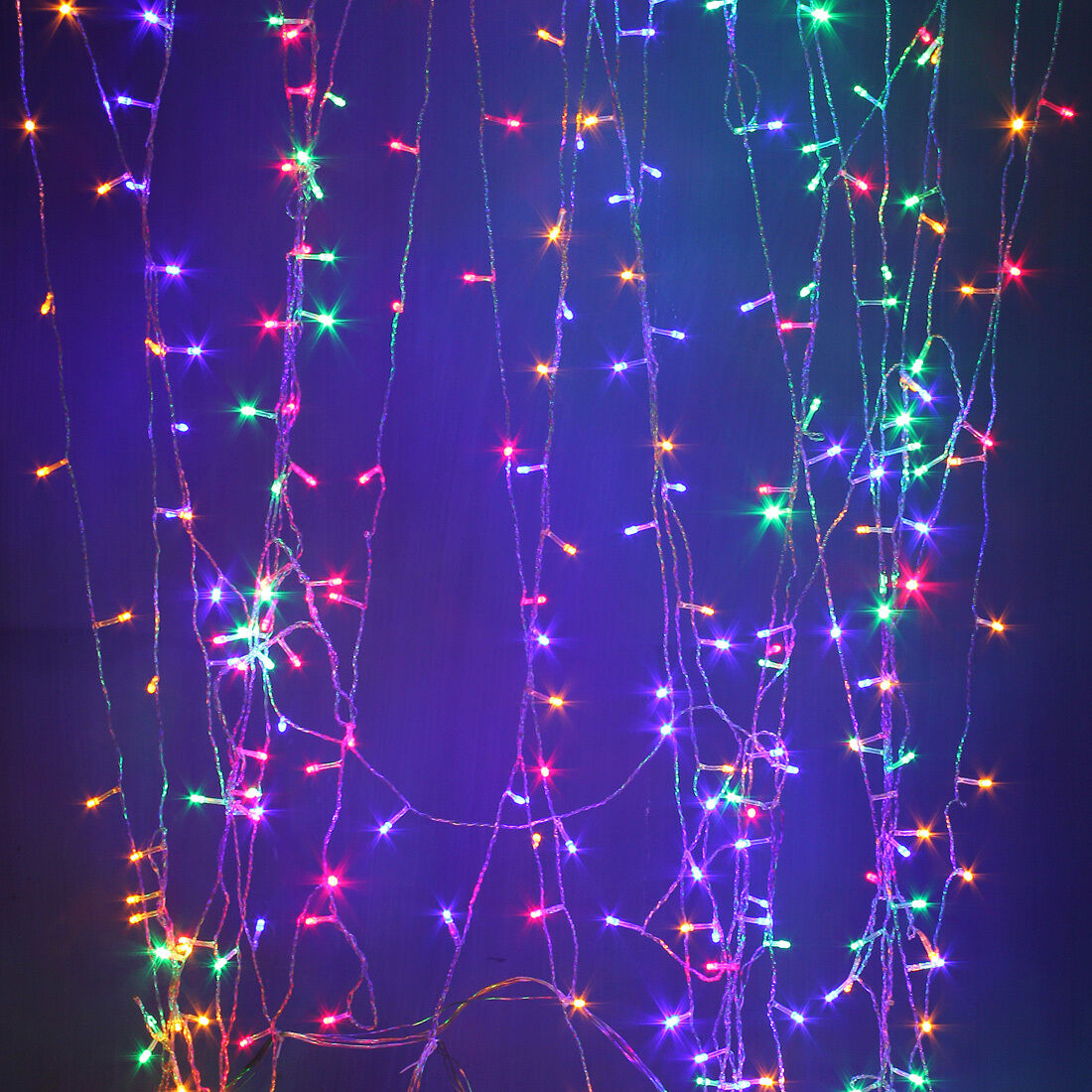 96 1500led String Light Christmas Fairy Icicle Snowing