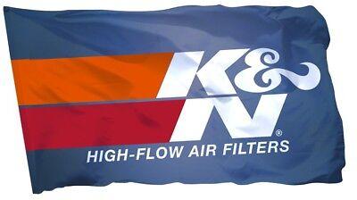 18x59 in K/&N Flag Banner High Flow Air Filters Car Parts Shop Garage Man Cave