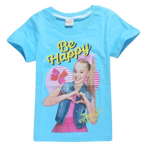 Cotton JoJo Siwa Girls Top Short Sleeve T Shirt Tee Be Your Own Star Size 4-12