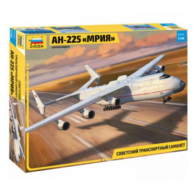 """Model Kits """"Soviet Cargo plane An-225 MRIYA"""" scale 1:144 Zvezda #7035"""