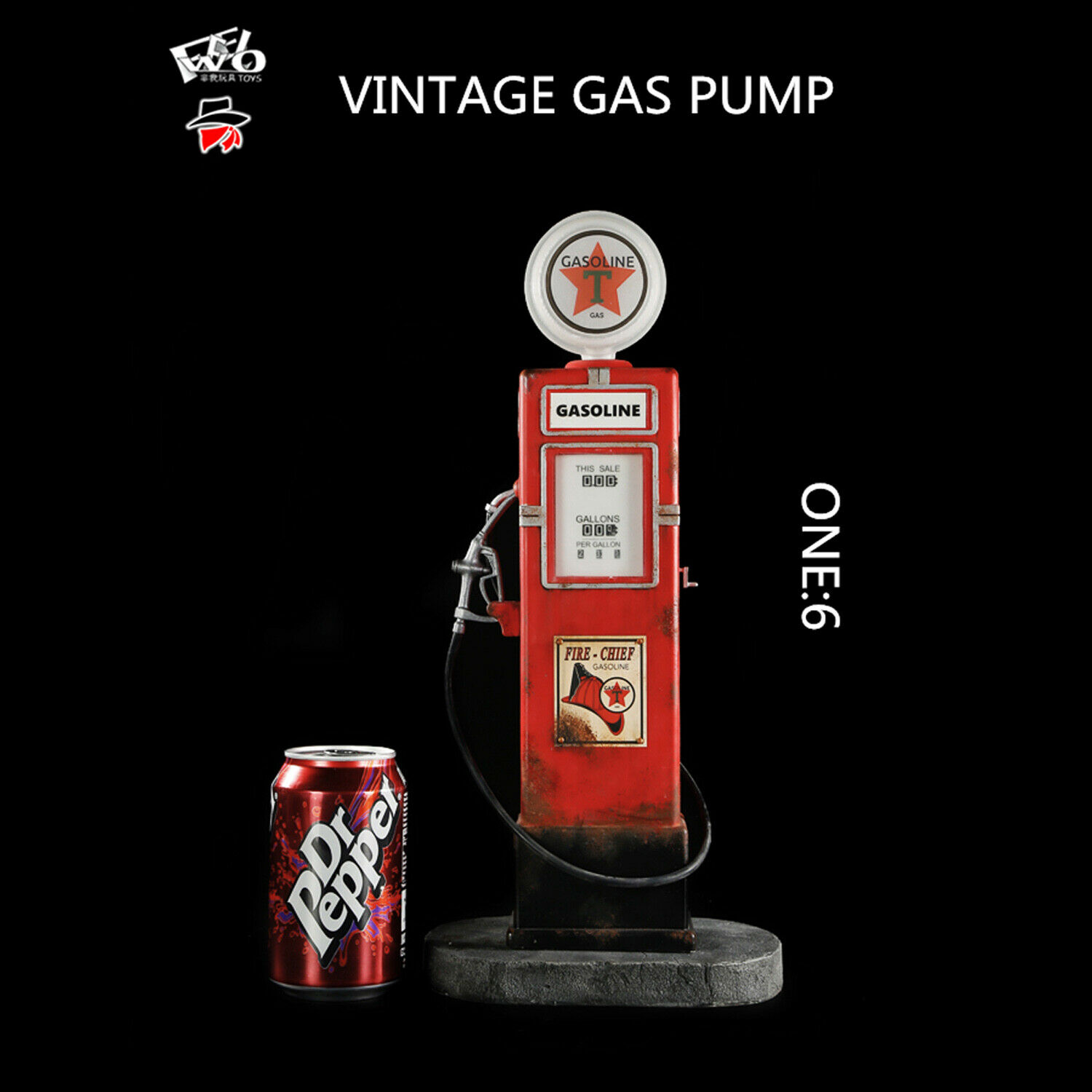 FeelToys FW009-6 1 6 Scale Vintage Gas Pump Collectible Action Figure Brand New