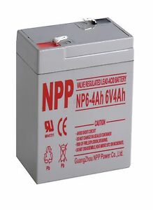 NPP 6V 4Ah Rechargeable SLA Battery for Power Wheels Deer Feeder Mojo Duck BT4-6