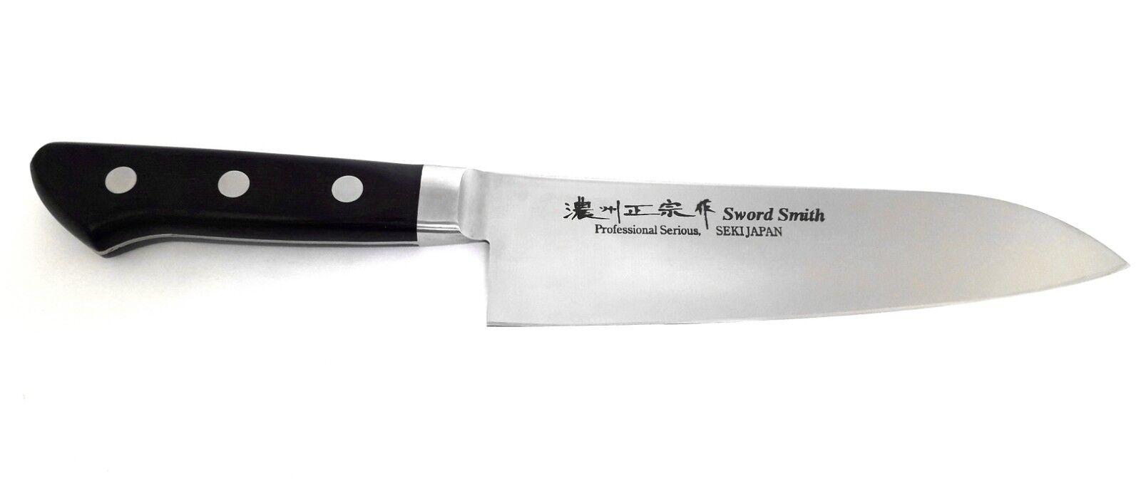 Santoku Couteaux de cuisine PSS Professional sword smith 18 cm Japon kochmesse HRC 58