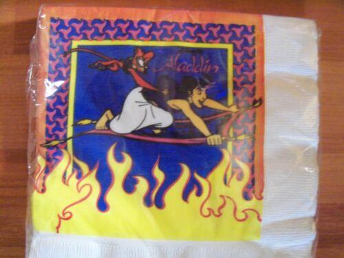 Aladdin Birthday Party Supplies Multi-color 3pc Lot 1992 Beach NOS