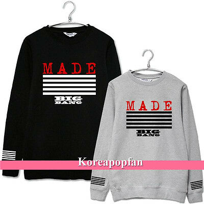 BIGBANG GD G-DRAGON TAEYANG SEUNGRI MADE 2015 SWEATER 100% cotton Kpop