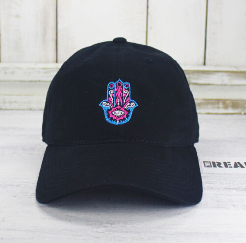 Hamsa Hand Yoga Dad Hat Embroidered Baseball Cap Curved Bill 100/% Cotton Namaste