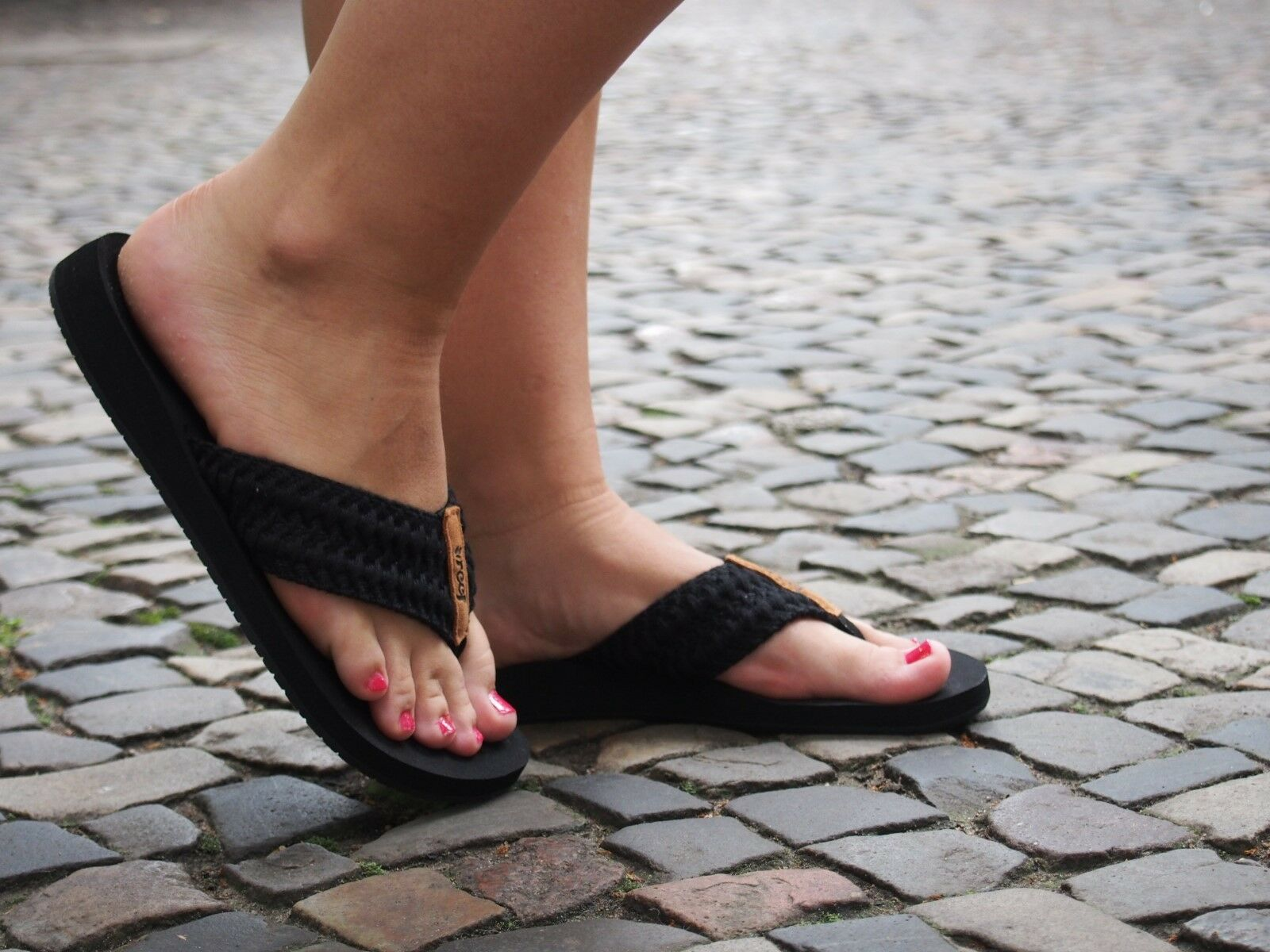 REEF Zehentrenner Cushion schwarz schwarz Damen Strandschlappen NEU Sandale SALE