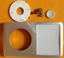 Silver front cover+ Clickwheel Central Button for iPod Classic 80GB 120GB 160GB